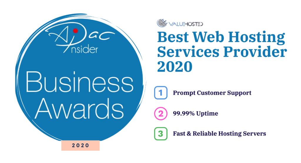 Best Web Hosting Services Provider 2020 Pakistan Award